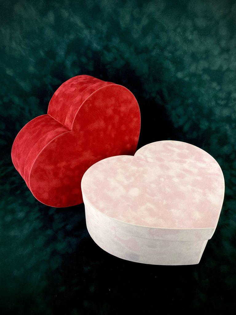 Коробка Сердце из бархата